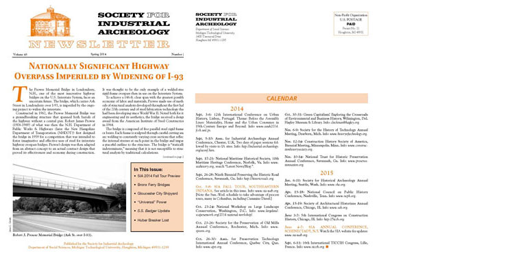 SIAN Vol. 43, No. 2, 2014 Published and sent to SIA current members