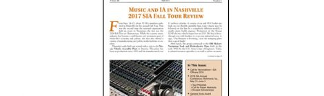 SIA NEWSLETTER V. 46 N. 4 FALL 2017 PUBLISHED