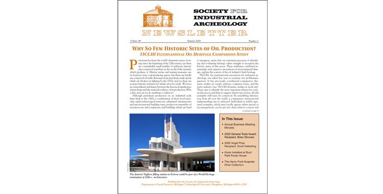 SIA Newsletter Volume 49 Number 3 - Summer 2020 Published